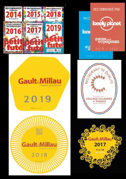 Lot'antique restaurant Gault et Millau Petit Futé Lonely Planet Restaurant de Qualité Michelin